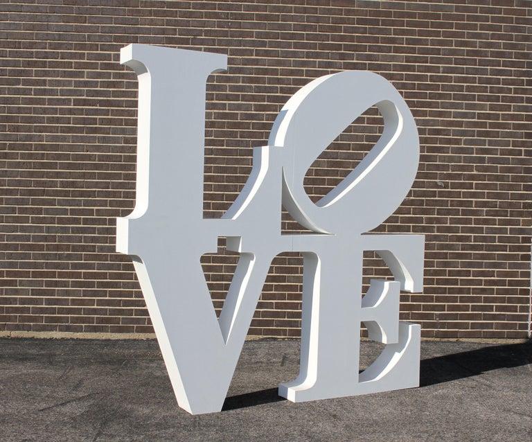 American After Robert Indiana Large LOVE Sculpture Pop Art - 72