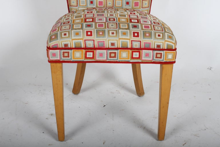 Pair of Midcentury High Back Dining or Occasional Chairs In Good Condition For Sale In St. Louis, MO