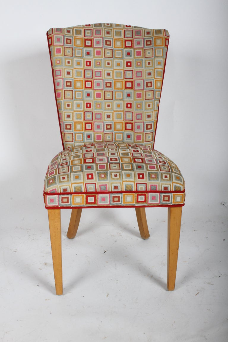 Pair of Midcentury High Back Dining or Occasional Chairs For Sale 3