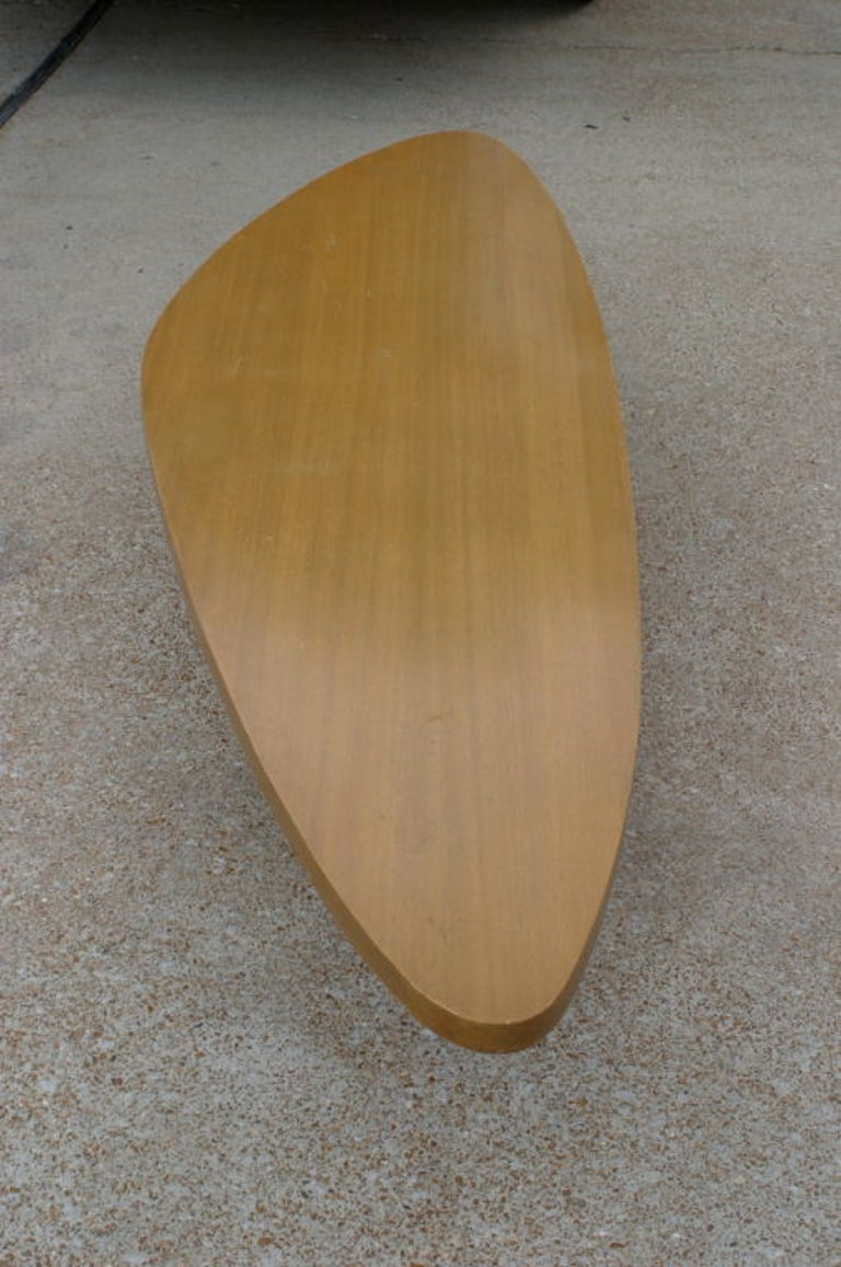 Mid-Century Modern Harvey Probber Biomorphic Surfboard Cocktail Coffee Table For Sale