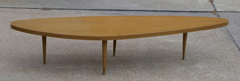 Mid-20th Century Harvey Probber Biomorphic Surfboard Cocktail Coffee Table For Sale