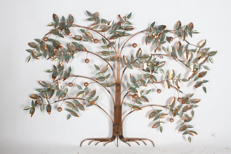 Late 20th Century Curtis Jere Tree of Life Sculpture, circa 1977 For Sale