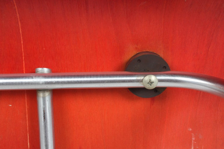 Early Charles Eames for Herman Miller Red Aniline DCM For Sale 1