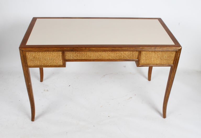 1970s McGuire Furniture Rattan and Caned Desk For Sale 6