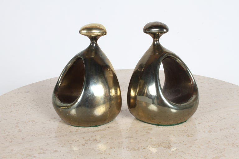 Ben Seibel for Jenfred-Ware Brass Bookends For Sale 2