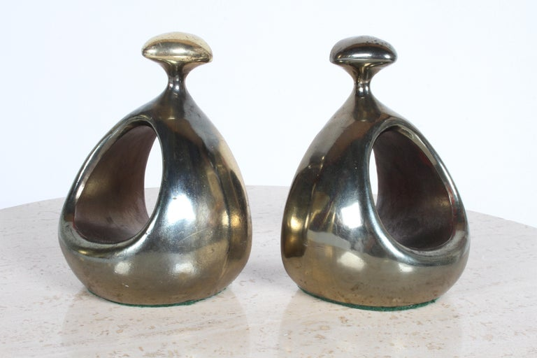 Ben Seibel for Jenfred-Ware Brass Bookends For Sale 3