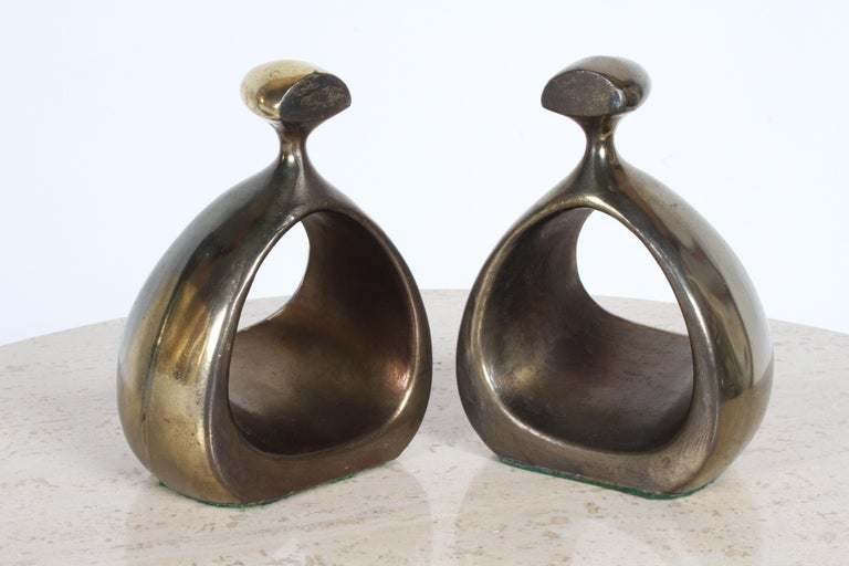American Ben Seibel for Jenfred-Ware Brass Bookends For Sale