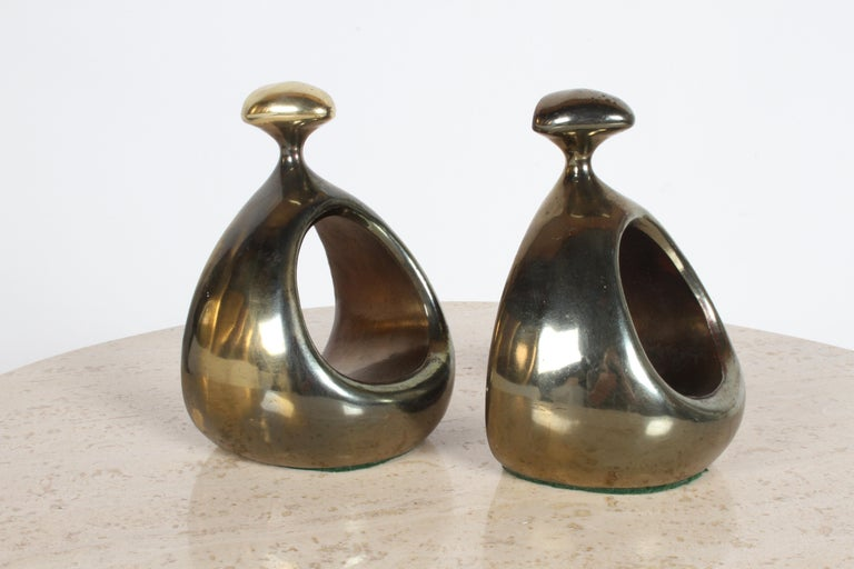 Ben Seibel for Jenfred-Ware Brass Bookends For Sale 4