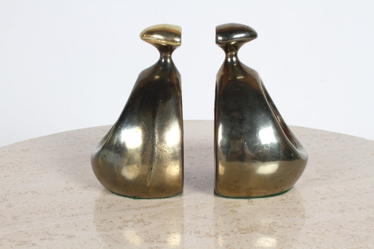 Ben Seibel for Jenfred-Ware Brass Bookends For Sale 6