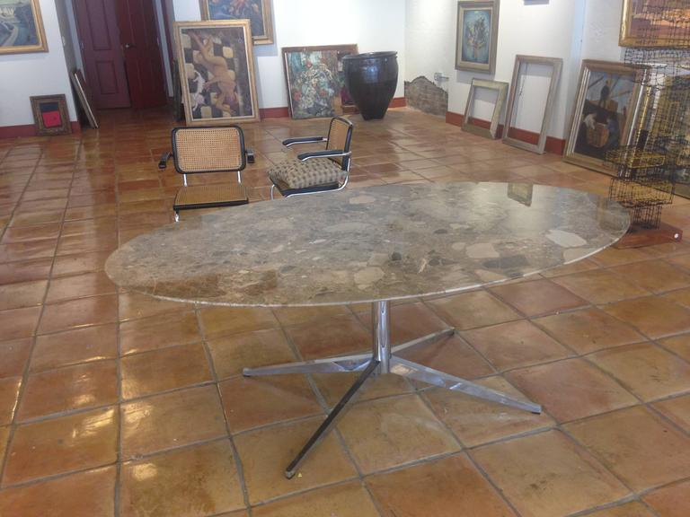 Florence Knoll Marble-Top Oval Dining Table 5