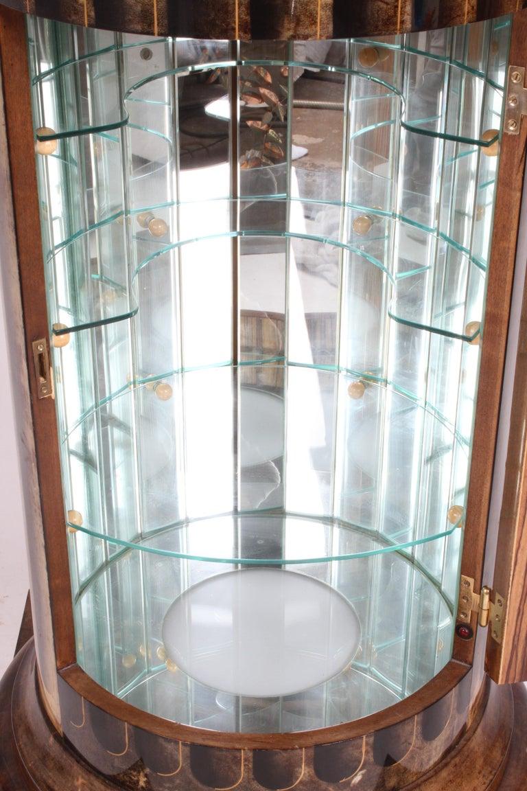 Aldo Tura, Italy, Goatskin Column Dry Bar For Sale 2