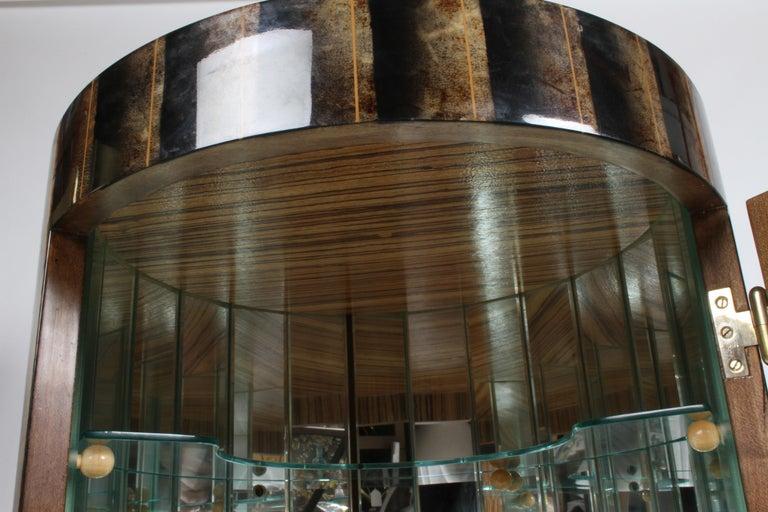 Aldo Tura, Italy, Goatskin Column Dry Bar For Sale 7