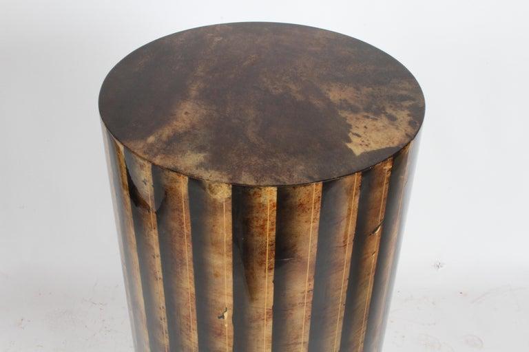 Aldo Tura, Italy, Goatskin Column Dry Bar For Sale 13