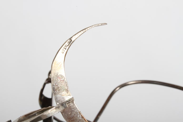 Sterling Silver Paul A. Lobel Sterling Fisherman Kinetic Sculpture For Sale