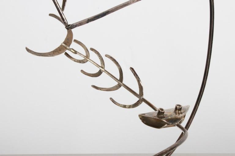 Paul A. Lobel Sterling Fisherman Kinetic Sculpture For Sale 2