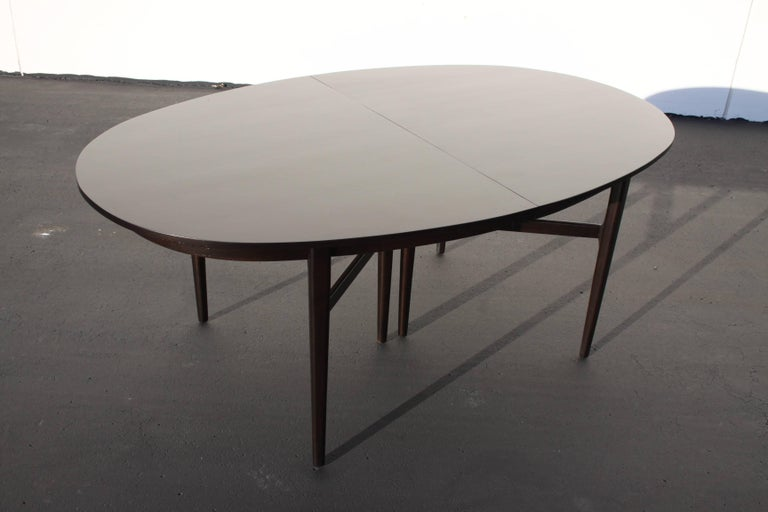 Wood Beautiful RomWeber Oval Mid-Century Dining Table For Sale