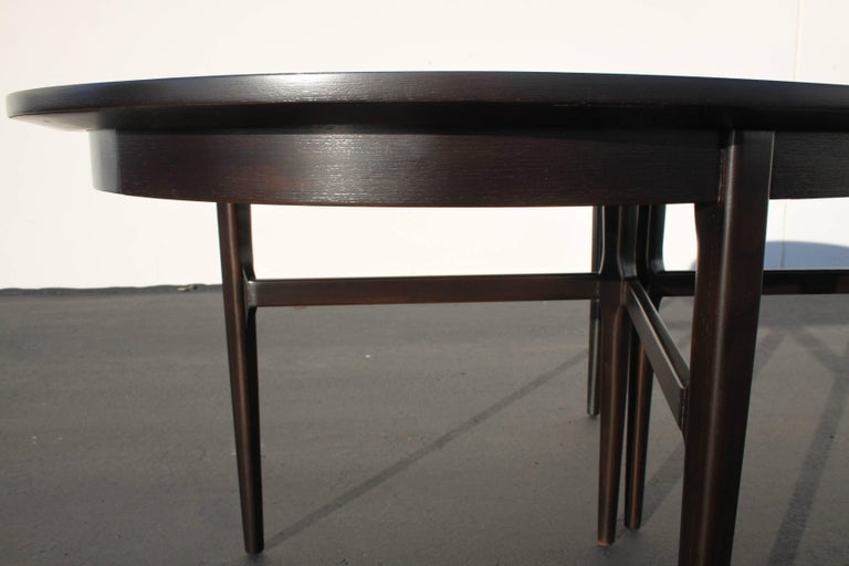 Mid-20th Century Beautiful RomWeber Oval Mid-Century Dining Table For Sale