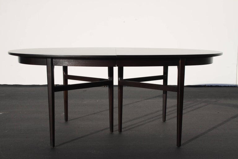 Mid-Century Modern Beautiful RomWeber Oval Mid-Century Dining Table For Sale