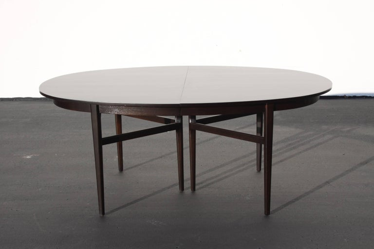 American Beautiful RomWeber Oval Mid-Century Dining Table For Sale
