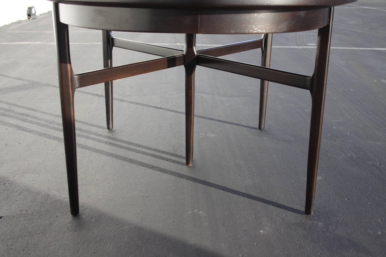 Stained Beautiful RomWeber Oval Mid-Century Dining Table For Sale
