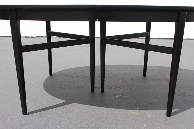Danish Modern Style RomWeber Oval Mid-Century Dining Table For Sale 3