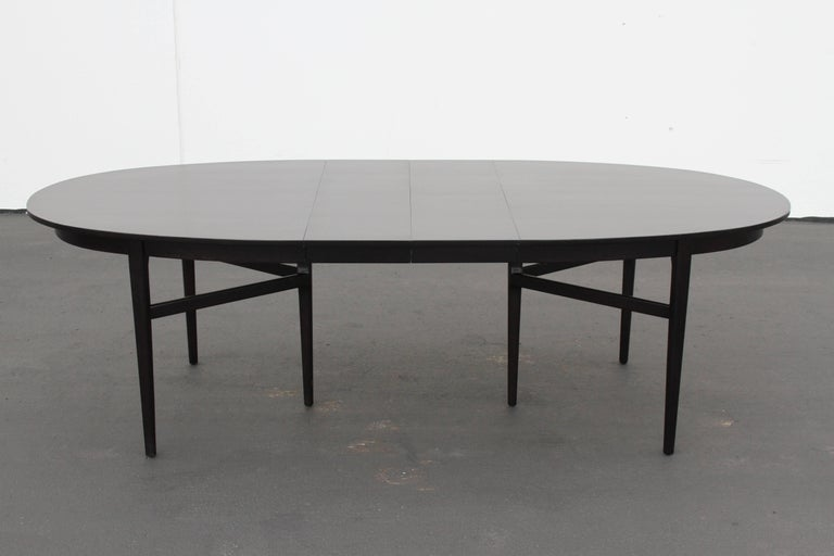 Danish Modern Style RomWeber Oval Mid-Century Dining Table For Sale 7