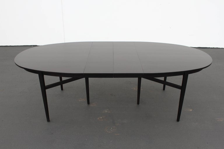 Danish Modern Style RomWeber Oval Mid-Century Dining Table For Sale 8