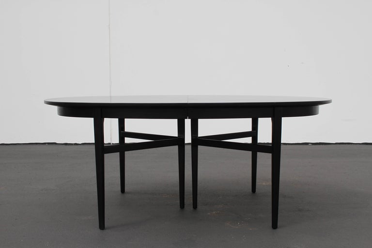 Danish Modern Style RomWeber Oval Mid-Century Dining Table For Sale 2
