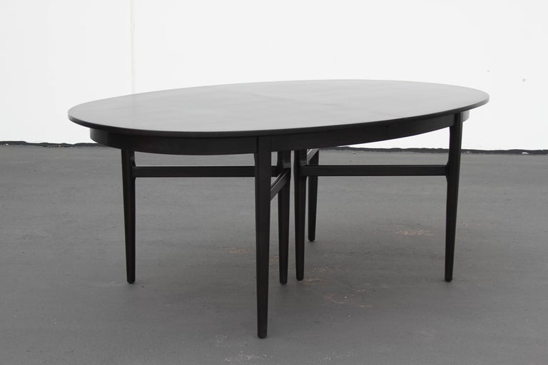 Danish Modern Style RomWeber Oval Mid-Century Dining Table For Sale 4