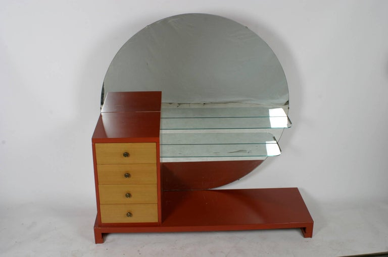 C. G. Kimerly for Widdicomb 1940s Dramatic Art Deco Vanity  For Sale 2