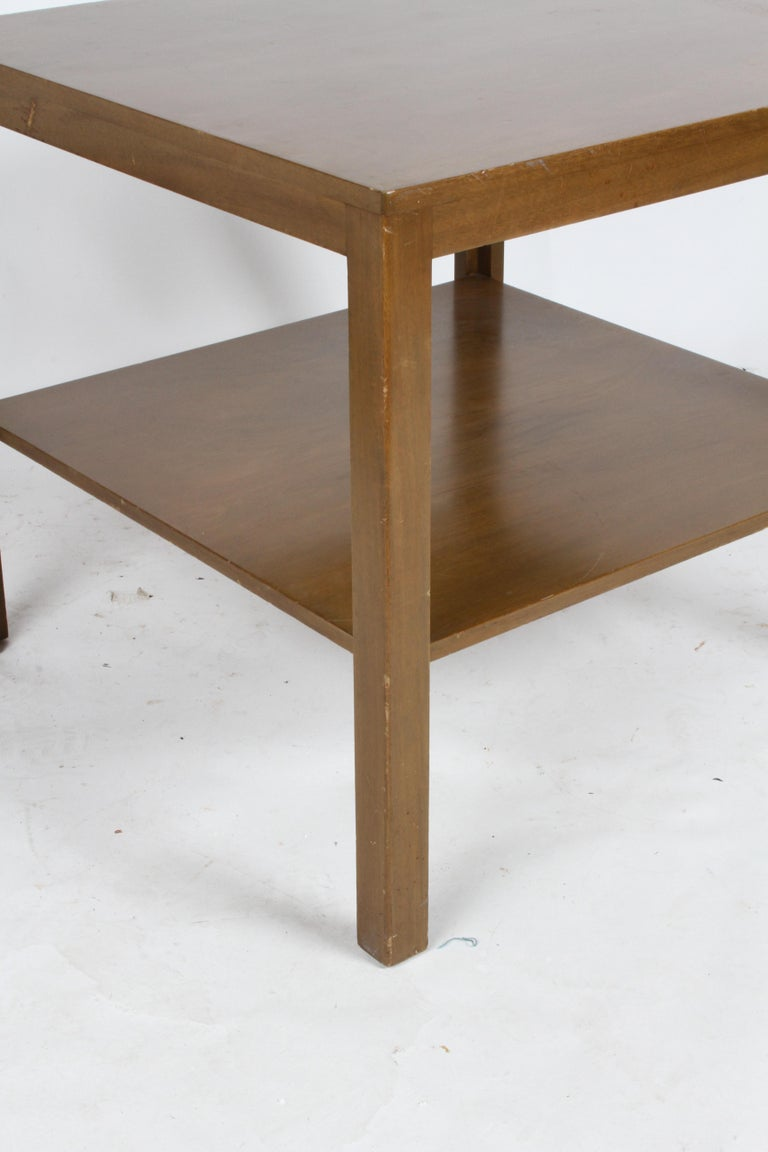 Mid-20th Century Pair of Edward Wormley for Dunbar Parsons Leg Two-Tired End Tables For Sale
