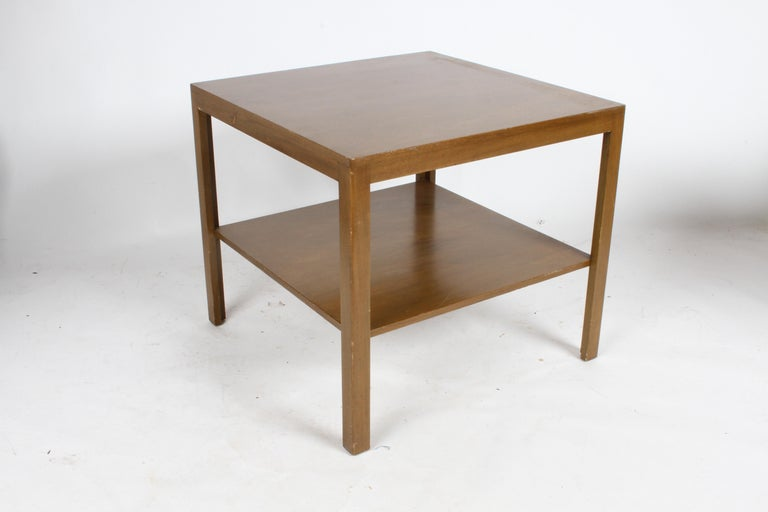 Mid-Century Modern Pair of Edward Wormley for Dunbar Parsons Leg Two-Tired End Tables For Sale