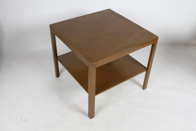 American Pair of Edward Wormley for Dunbar Parsons Leg Two-Tired End Tables For Sale