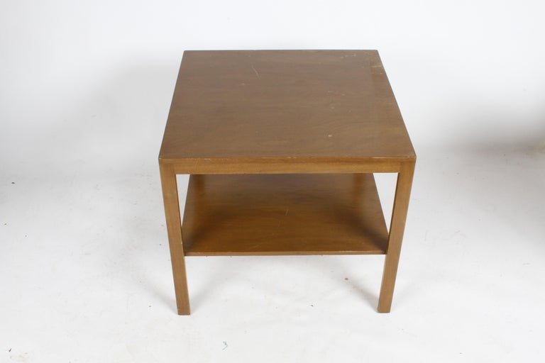 Pair of Edward Wormley for Dunbar Parsons Leg Two-Tired End Tables For Sale 3