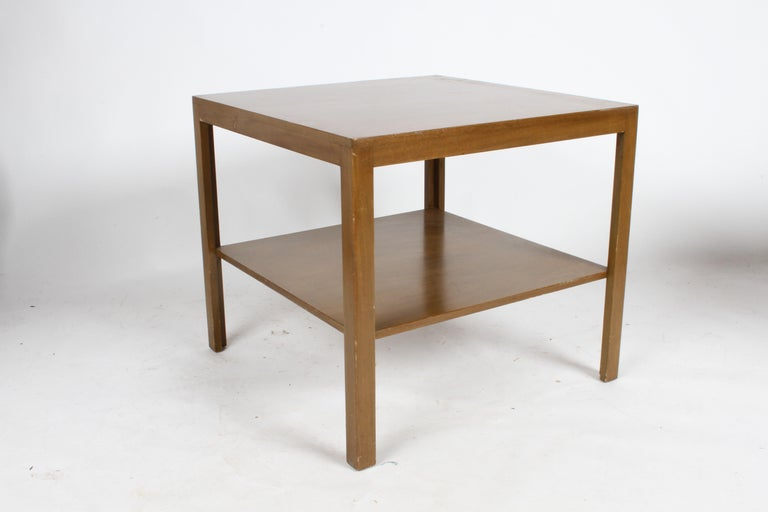 Pair of Edward Wormley for Dunbar Parsons Leg Two-Tired End Tables In Good Condition For Sale In St. Louis, MO