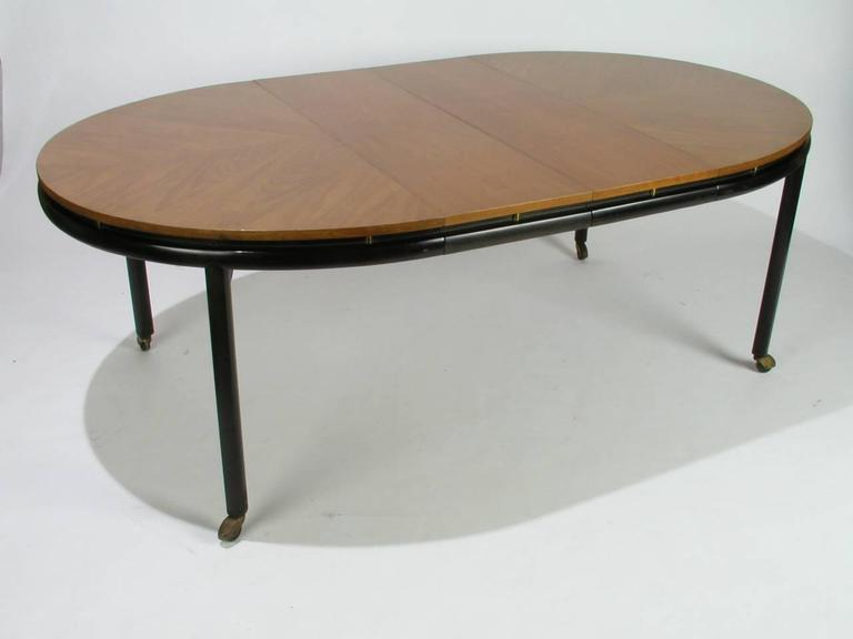 Mid-20th Century Baker New World Collection Oval Dining Table by Winsor White & Michael Taylor For Sale
