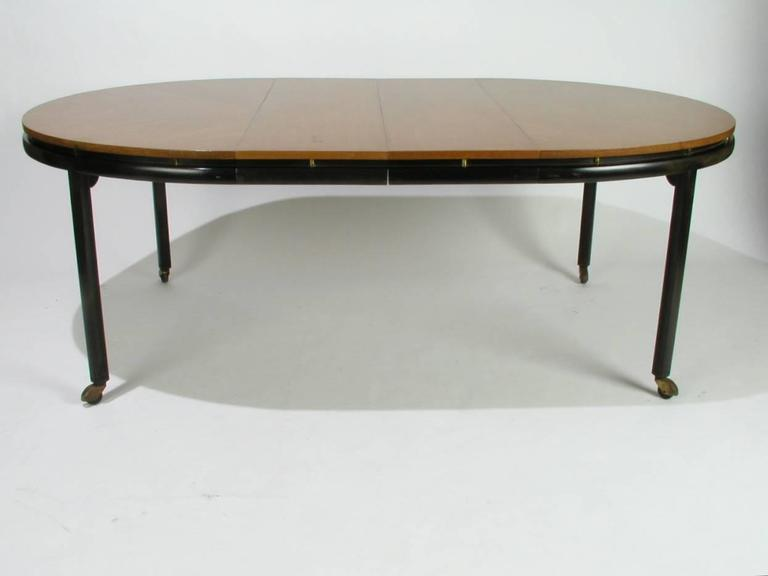 Baker New World Collection Oval Dining Table by Winsor White & Michael Taylor For Sale 1