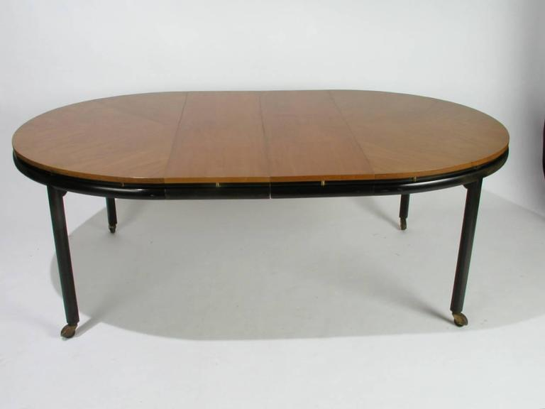 Brass Baker New World Collection Oval Dining Table by Winsor White & Michael Taylor For Sale