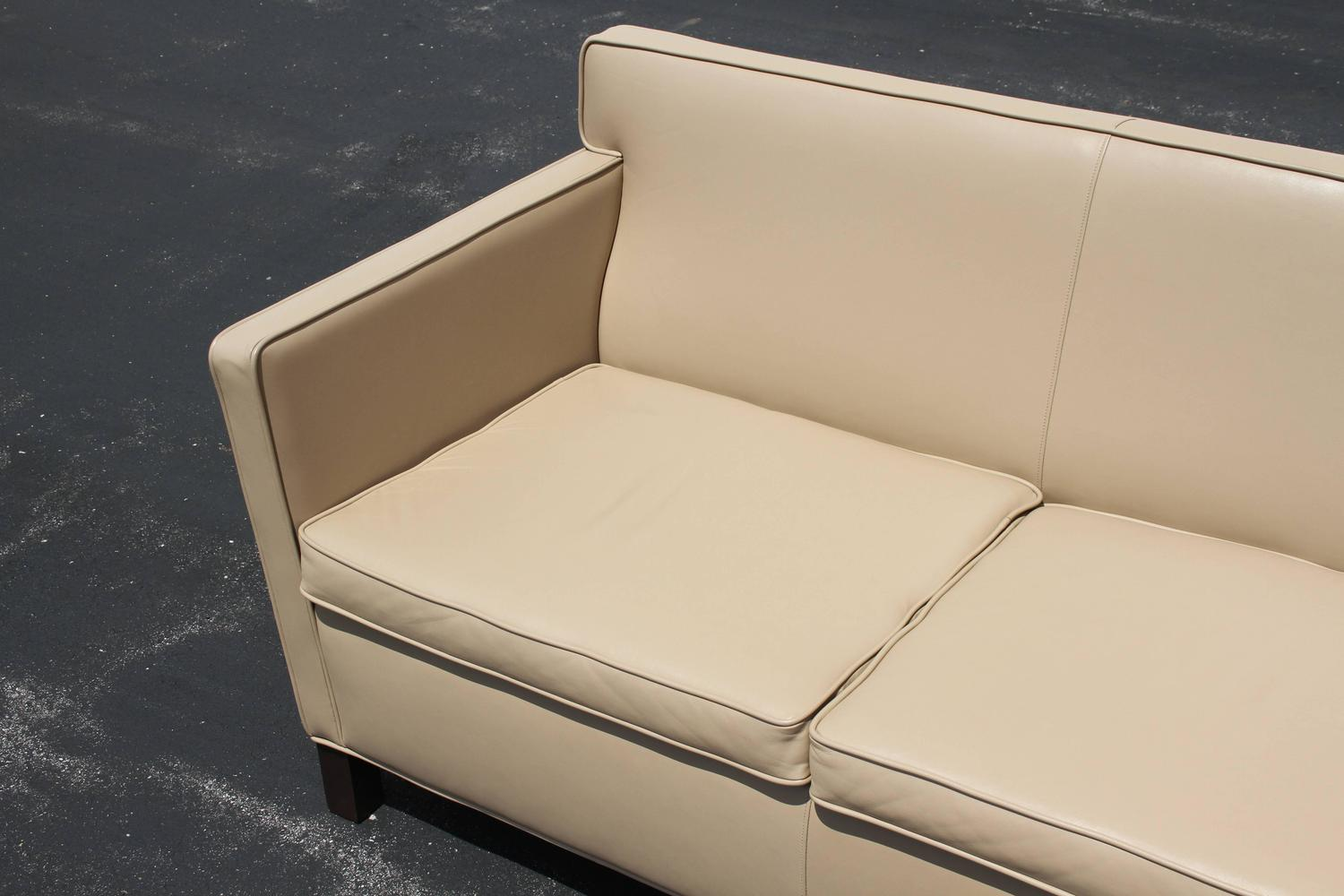 Ludwig Mies Van Der Rohe Krefeld Leather Settee Sofa for Knoll For Sale at 1stdibs