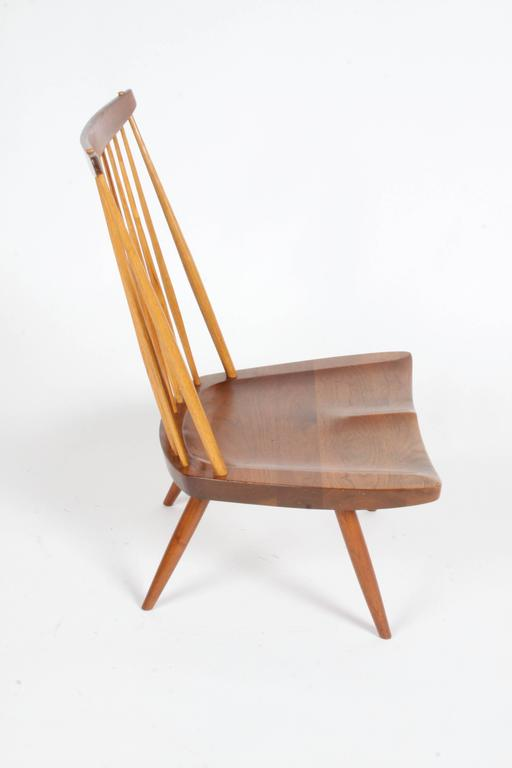 Mid-Century Modern George Nakashima New Lounge Chair, Studio Crafted for Architect Phillip Cotton For Sale