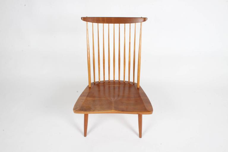Walnut George Nakashima New Lounge Chair, Studio Crafted for Architect Phillip Cotton For Sale