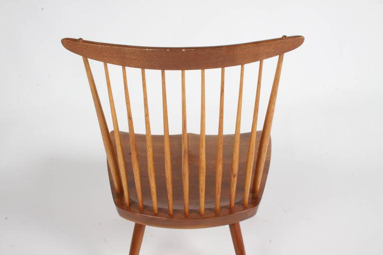 George Nakashima New Lounge Chair, Studio Crafted for Architect Phillip Cotton For Sale 1
