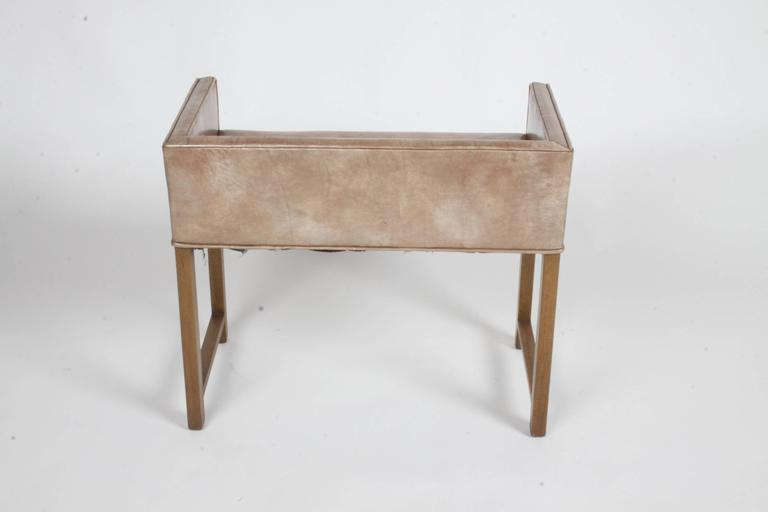 Mid-Century Modern Edward Wormley for Dunbar Vanity Stool or Bench For Sale