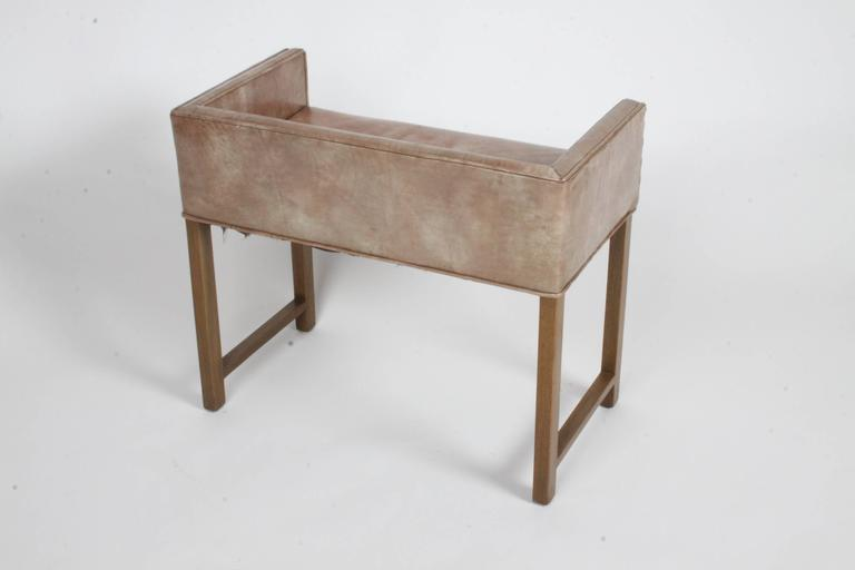 American Edward Wormley for Dunbar Vanity Stool or Bench For Sale