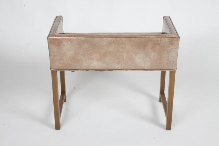 Mid-20th Century Edward Wormley for Dunbar Vanity Stool or Bench For Sale