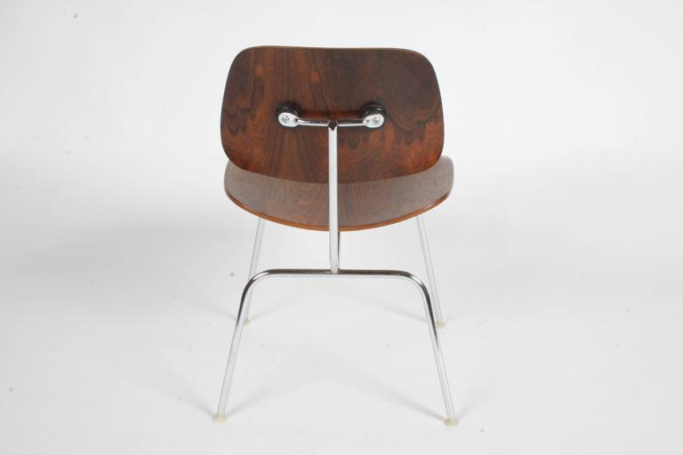 American Pair of Charles Eames for Herman Miller Rosewood DCM Chairs - Rare For Sale
