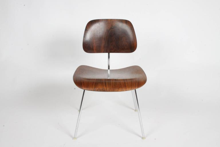 Pair of Charles Eames for Herman Miller Rosewood DCM Chairs - Rare In Excellent Condition For Sale In St. Louis, MO