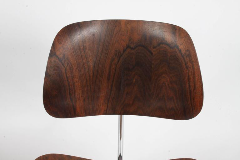 Pair of Charles Eames for Herman Miller Rosewood DCM Chairs - Rare For Sale 3