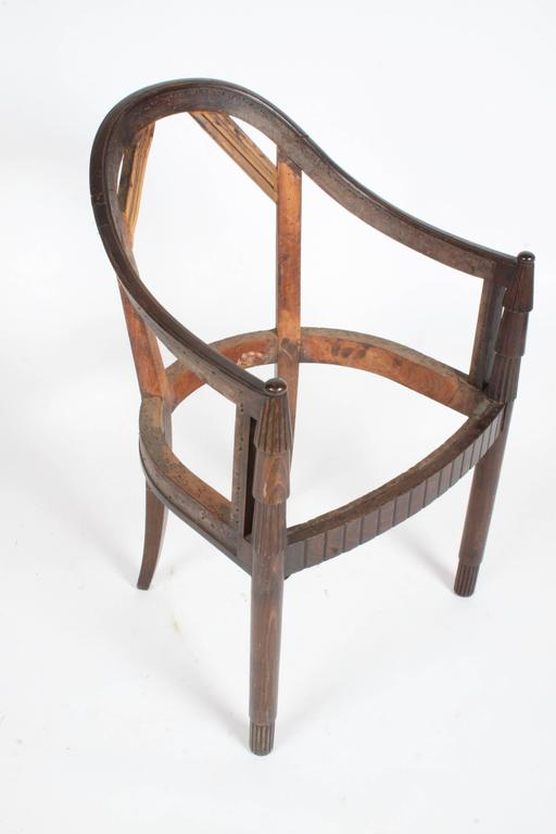Very nice French Art Deco armchair frame, ready for your upholstery.