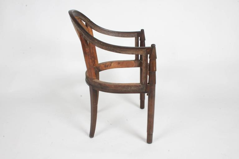 Nice French Art Deco Armchair Frame For Sale 3